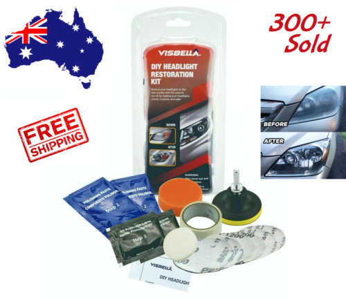 Headlight Restoration Kit Headlights Fog Lights Restorer Clearer Lights DIY - AU