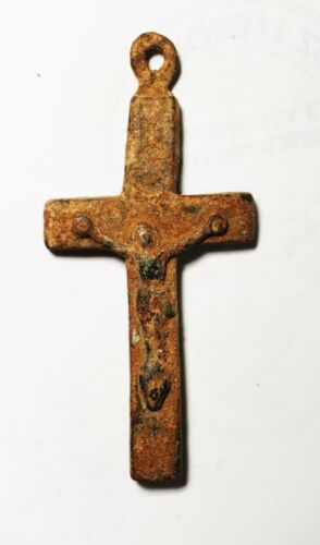 ZURQIEH -As17984-  ANCIENT HOLY LAND. BRONZE CROSS. CRUSADERS ERA. 12TH CENT. A.