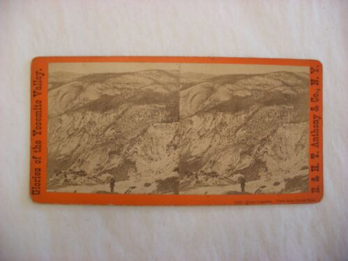 Stereo View Card - Yosemite Valley California E. & H. T. Anthony Co. 7433 #115