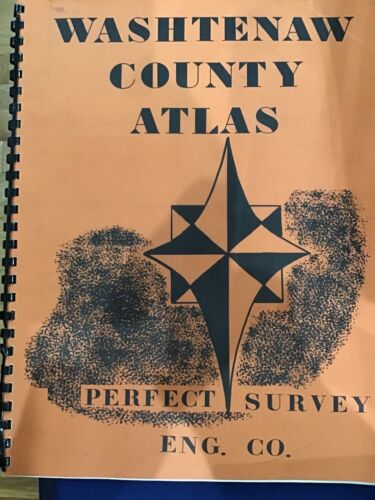 1975 Washtenaw County Atlas Plus Northville Canton Original Vintage E6236