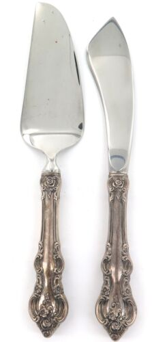 """.1960s USA TOWLE """"EL GRANDEE"""" PATTERN STERLING SILVER HANDLES SMALL SERVERS."""