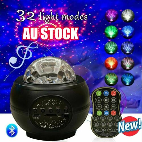 Galaxy Starry Night Lamp LED Star Projector Night Light Ocean Wave Projector KC