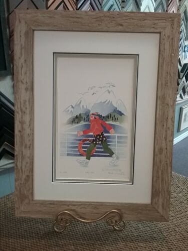"""RIE MUNOZ New!!! Custom Framed & Matted 1996 """"SIXTEEN LAPS"""" Limited Edition"""