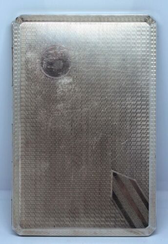 STRIKING 184 gram ART DECO STERLING DUNKLINGS CIGARETTE CASE 1935