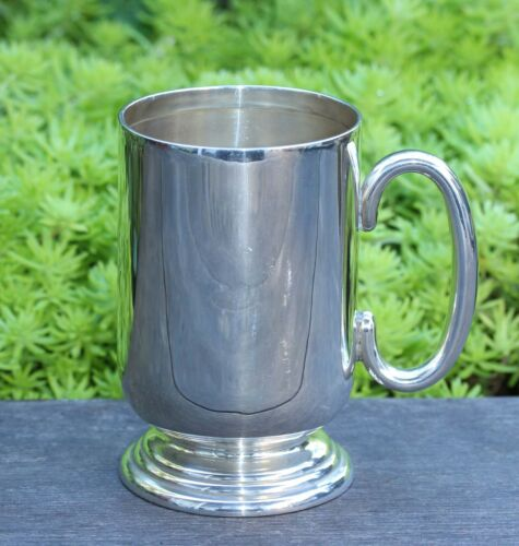 STERLING SILVER 1/2 PINT TANKARD HALLMARKED 1910 WEIGHS 176.4 GRAMS