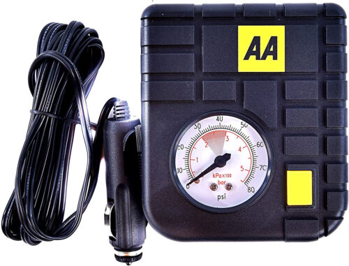 Car Van Tyre Inflator Kit Compact Electric Pump Inflators Pumps Travel AA 12V <br/> Trusted Seller - Top Quality - Money Back Guarantee
