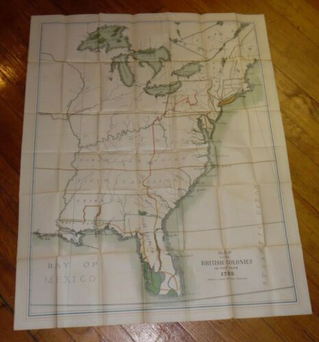 Antique Reprint Map Of The 1765 British Colonies
