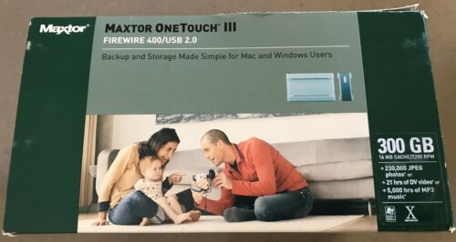 MAXTOR ONE TOUCH III -300GB -Original Packaging -Working fine! -ALL READY TO GO!