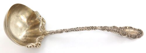 ANTIQUE USA R BLACKINTON & Co UNKNOWN PATTERN STERLING SILVER SMALL LADLE.