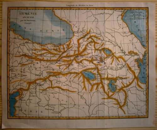 1838 Duvotenay map ANCIENT ARMENIA