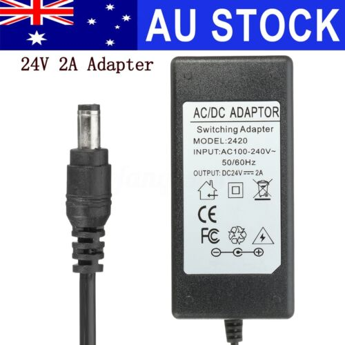 AU 24V 2A Power Supply Adapter Charger For Logitech Racing Wheel G27 G25 G94
