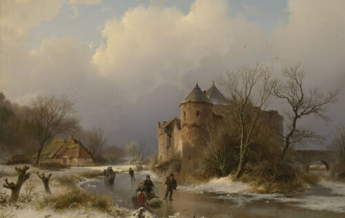"""high quality oil painting handpainted on canvas """" a winter landscape"""""""