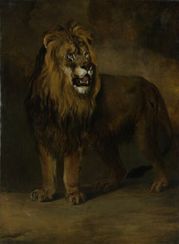 """high quality oil painting handpainted on canvas """"A lion"""""""