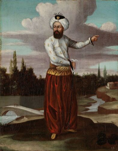 """oil painting  handpainted on canvas """"a courier to the Sultan"""""""