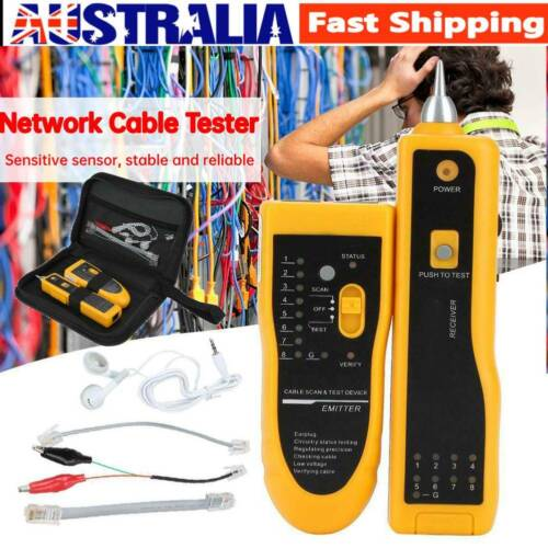 RJ45/11 Telephone Lan Network Tester  Cable Wire Finder Tracer Toner Test