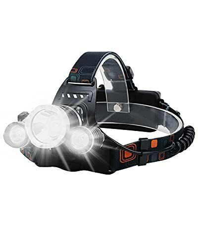 Rechargeable Headlight with 3 Lights 4 Modes 6000 Lumen Super Bright LED Lamp Ha