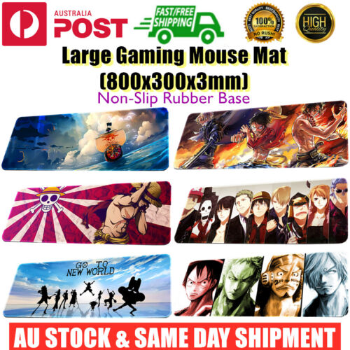 Extra Large Size Gaming Keyboard Mouse Mat Pad Desk Laptop Onepiece 800x300x3mm