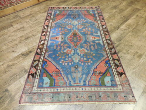 1930 VGDY ANTIQUE LILIHAN MALLAYER SAROUK SERAPI HERIZ 3.3x6.1 ESTATE SALE RUG