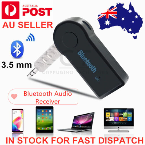 Wireless Bluetooth 5.0 Stereo Home Receiver Adapter 3.5mm Car Music Audio AUX oz