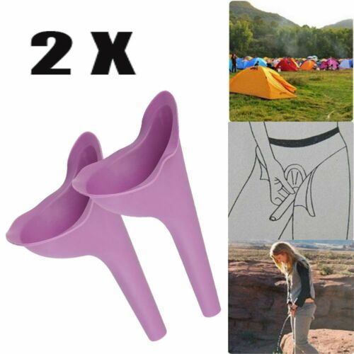 2X Portable Female Ladies Woman She Urinal Urine Wee Funnel Camping Travel Loo
