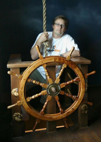 Pirates wonderful home decor Ship Wheel Wooden Captain Steering Decor Wheel 36""