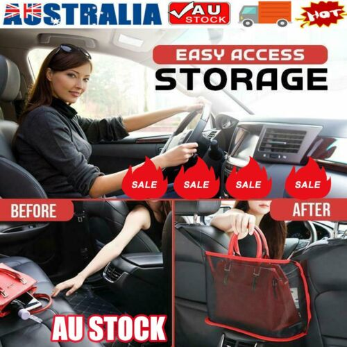 Advinced Car Net Pocket Handbag Holder Organizer Seat Side Storage Mesh Net Bag