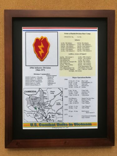 25th Infantry Division Patch and History in VietnamReproductions - 156445