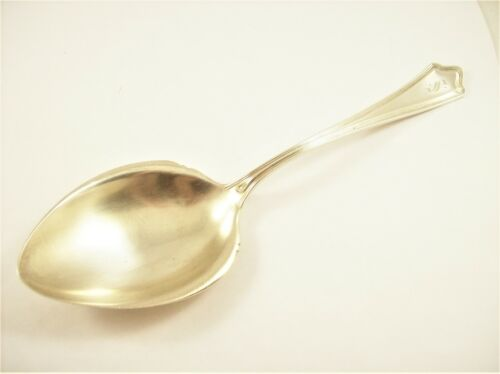 ANTIQUE STERLING SILVER BERRY/CASSEROLE SPOON, PORTLAND, WHITING MFG. CO.