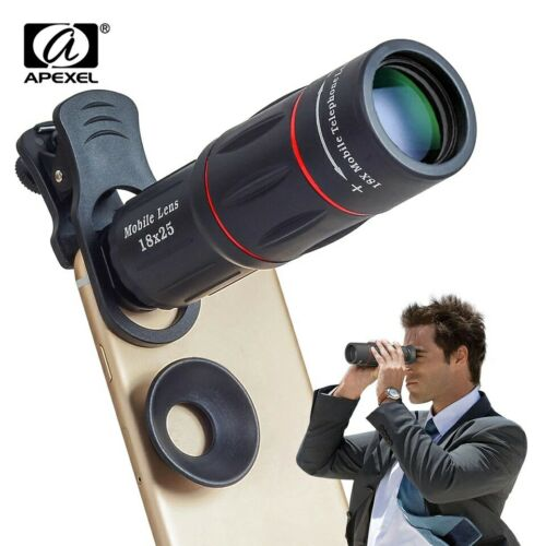 New HQ Apexel Universal Optical Mobile Phone 18x HD Lens+Tripod,Clip&Pouch📱📸💯