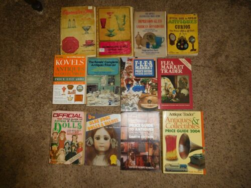 Lot 12 Antique Price Guide Books Dolls Depression Glass Kovels Wallace Homestead