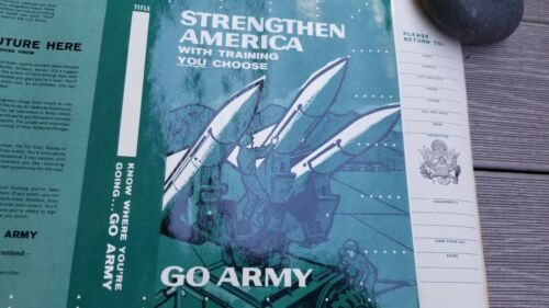 Vintage 1961 US Army Recruiting Text Book Cover Poster Missles SCHOOL UNISSUED Posters & Prints - 104016