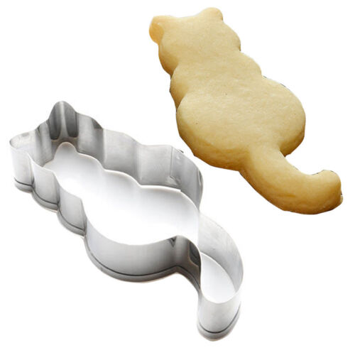 New Cat Shaped Steel Mold Sugarcraft Cake Cookies Pastry Baking Cutter Mould