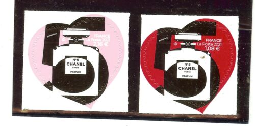 TIMBRES AUTOADHESIFS 2021 NEUF ** COEURS CHANEL