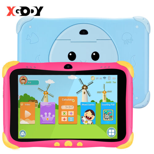 """XGODY 7"""" Android 8.1 Tablet PC for Children Quad-core Wifi 1GB+16GB Dual Camera"""