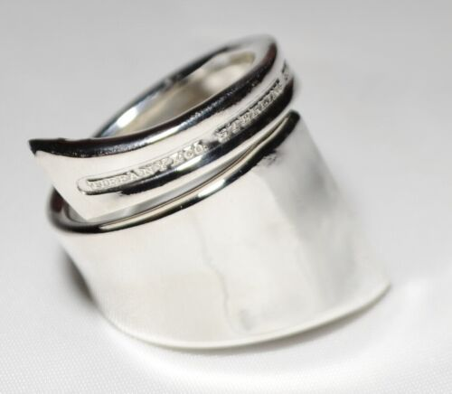 Antique 1911 TIFFANY & Co Flemish Modified Modernized STERLING Spoon Ring  Sz 7