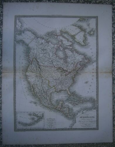 Lapie's map NORTH AMERICA, Atlas Universel, Paris, 1829 / 1830