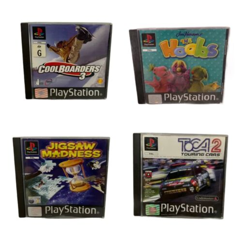 Playstation 1 Bundle - Cool Boarders 3 +  The Hoobs + Jigsaw Madness + TOCA 2