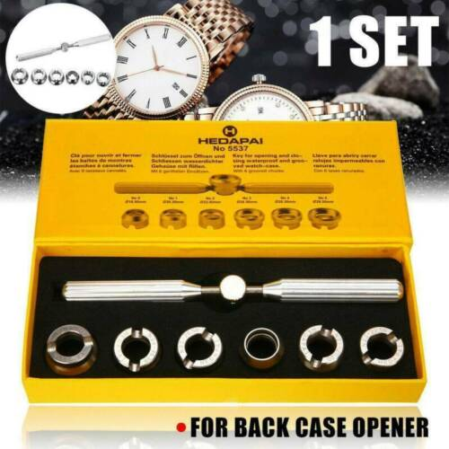 7pcs Pro Back Case Opener Cover Remover for Rolex & Tudor Watch Repair Tool Kit