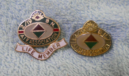 #D312.   TWO 2/19 BATTALION AIF ASSOCIATION   BADGES - LIFE MEMBER1939 - 1945 (WWII) - 13977