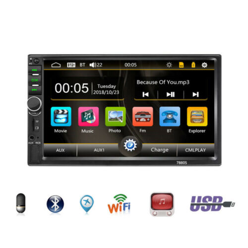 7in Double 2DIN Car FM Stereo Radio MP5 Player Touch Screen BT Audio USB/TF/AUX <br/> Free 32G U Disk + Free HD Camera + high qualit