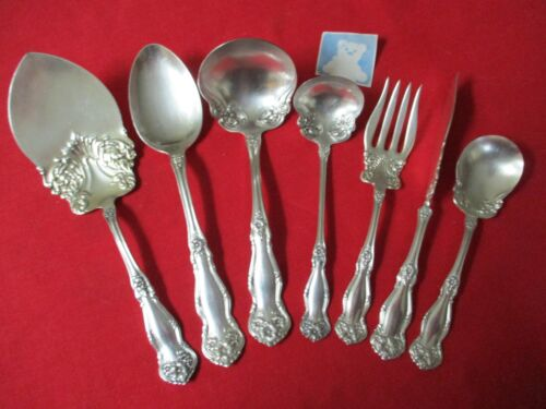 (7) Rogers IS Silverplate Serving Pieces, 1908 Arbutus   #19-1