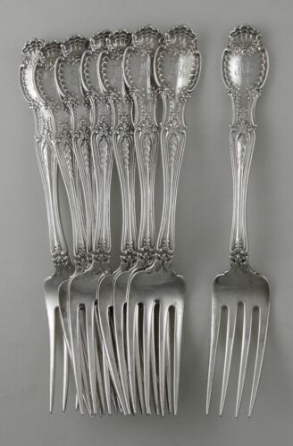 Sterling Tiffany & Co. RICHELIEU lunch forks (set of 8)