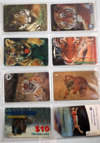 art.522 n.8 telephons cards- tigre. tigers,