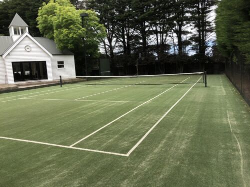 Synthetic Tennis Court Maintainance And Rejuvination