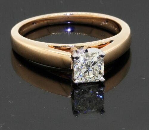 GIA certified Platinum/18K YG 0.68CT VS2/L diamond solitaire engagement ring