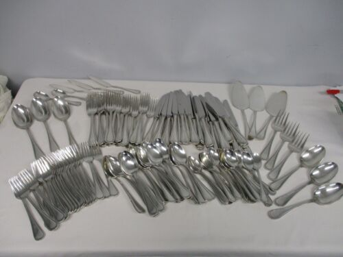 136 PIECES RARE WALLACE GIORGIO SILVERPLATE FLATWARE ~ HUGE SET ~ EXCELLENT COND