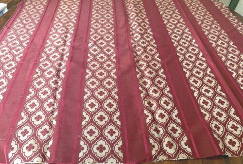 Antique French Woven Silk Fabric with Stripes  WW437