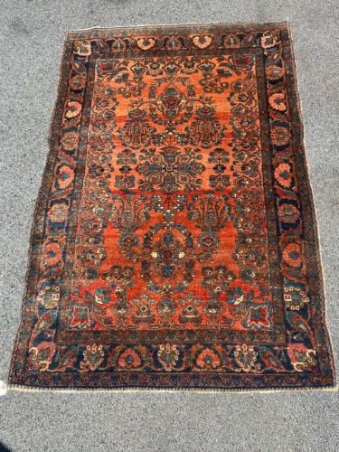"ANTIQUE  AMERICAN SAROUK  RUG 3'5""x5'  FT CIR 1900"