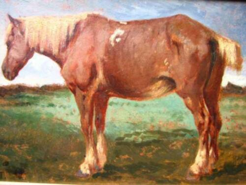 """high quality oil painting handpainted on canvas """"a horse"""""""