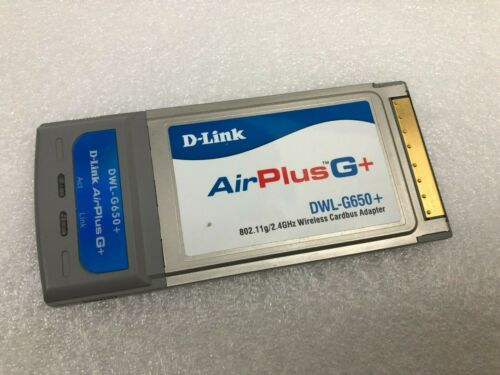 D-Link DWL-G650+ 2.4GHz HighSpeed 108Mbps Cardbus Adapter PCMCIA Wireless